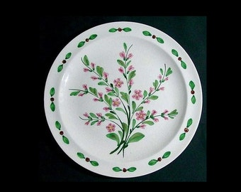 "RARE Blue Ridge Plate BLOSSOM TIME 9.25"" Lunch Southern Potteries Astor Dinnerware Hand Painted Floral w/Pattern Number (B05) 6853"