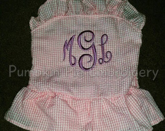 Girls Swimsuits!!! Embroidered with initials!!