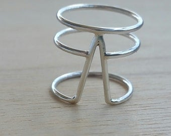 Luna Luxe Statement Ring, Sterling Silver