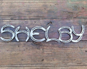 Custom Made Horseshoe Sign Priced Per Letter FREE SHIPPING