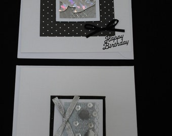 Fish Happy Birthday Cards,  monochrome, black and white, birthday cards, fish