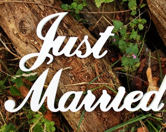 Wedding Sign Just Married for Photography-Plywood Sign-Wedding Gift-Wedding Party Decor-Wedding table decor-Wedding Signs Photo Props