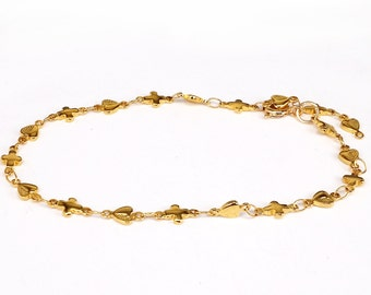 Gold Name Anklet ONE NAME Bar Anklet Customized Ankle Bracelet 14K Gold Filled   bridesmaid gift,   made in NY