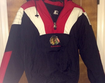 Vintage Chicago Blackhawks Starter Quarter-Zip