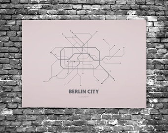 Berlin City - Acrylic Glass Art Subway Maps (Metrokaart, Acrylglas) (C7 - C8)