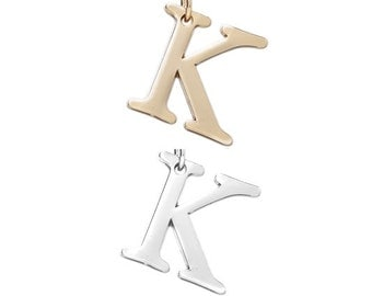 "Letter ""K"" (silver or gold tone) [5 pieces]"
