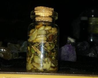 Witch Attraction Bottle Charm ~Basil, Sunflower, Orange~
