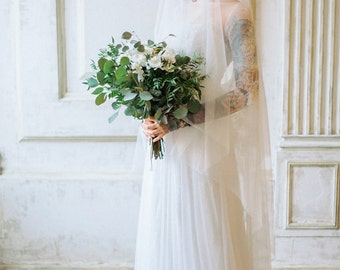 Claire / Boho wedding dress / Lace back wedding dress / wedding dress with sleeves