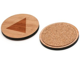 Isosceles Triangle Wooden Coasters Set of 4, Gifts For Him, Wedding Gifts, Groomsman Gifts, and Personalized