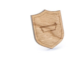 Bathtub Lapel Pin, Wooden Pin, Wooden Lapel, Gift For Him or Her, Wedding Gifts, Groomsman Gifts, and Personalized
