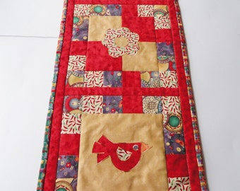 Quilted Table Runner, Bright Colored Table Runner, Mexican Fiesta Table