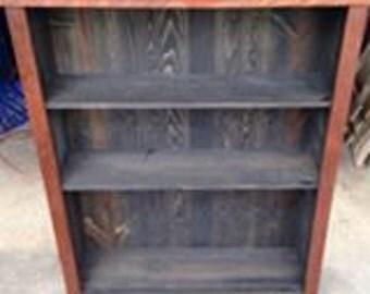 Custom Made Book Case, Wild Cherry and Pine