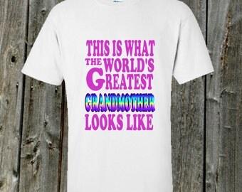Worlds Greatest Grandmother Tshirt