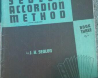 1939 Sedlon Accordion Method books 1&3