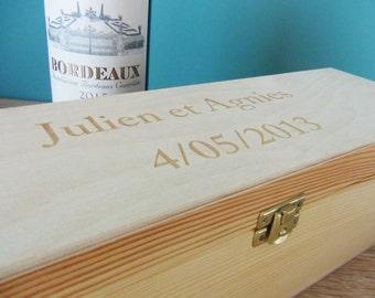 Custom wooden wine box