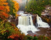 Color Photography - Landscape - Wall Art - Decor - Blackwater Falls II