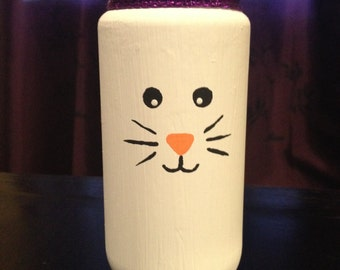 """Hand-painted """"Bunny"""" Vase"""