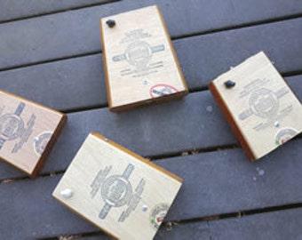 Kick Style Cigar Box Stomp Box - Aliados Cigar Box