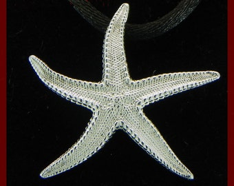 Starfish pendant in 925 sterling silver