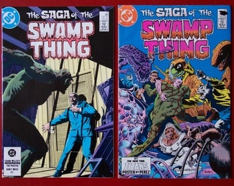 Saga of the Swamp Thing  # 21  22  DC Alan Moore  NM / FN-