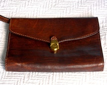 The BRIDGE original, Vintage, Leather, Clutch Style Bag, Made in Italy