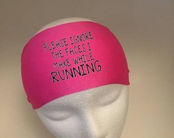 Running Headband ~Yoga Headband~ Workout Headband- Please ignore the face I make