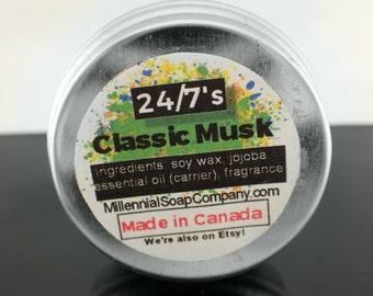 Vegan Classic Musk - Solid Perfume/Sample 0.5oz //made in Canada//[ amber /  musk]