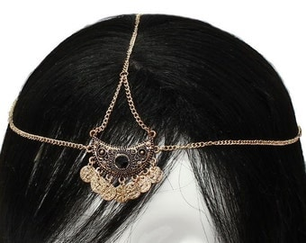 Head Chain, hair jewelry chain, chain headband, chain head piece, chain hair piece, hair jewelry