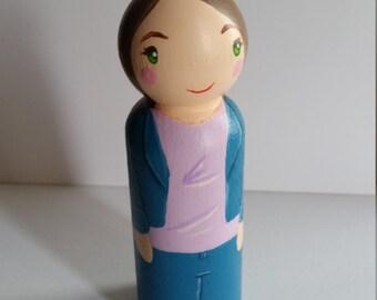 Female Casual Peg Doll