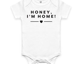 Organic Baby Onesie - Honey, I'm Home