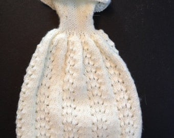 """Handcrafted """"Barbie"""" doll knit gown with purse"""