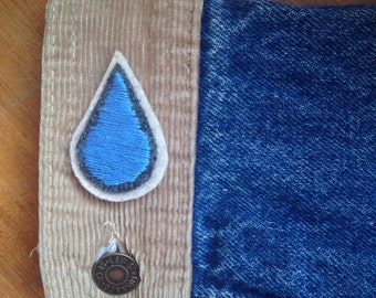 Teardrop Hand Embroidered Patch