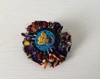 Bee Fabric Brooch