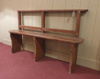 Pine Chapel Bench/Shabby Old Bench/Old Wooden Bench/Old Pine Bench