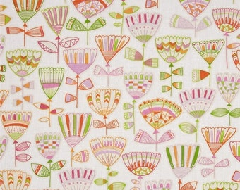 "FreeSpirit Cotton Fabric ""Highline""  Hudson  in Rose   by Erin McMorris"