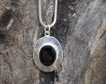 Preto Silver Black Onyx Pendant