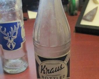 Kraus Soda Water Bottle - 1920's
