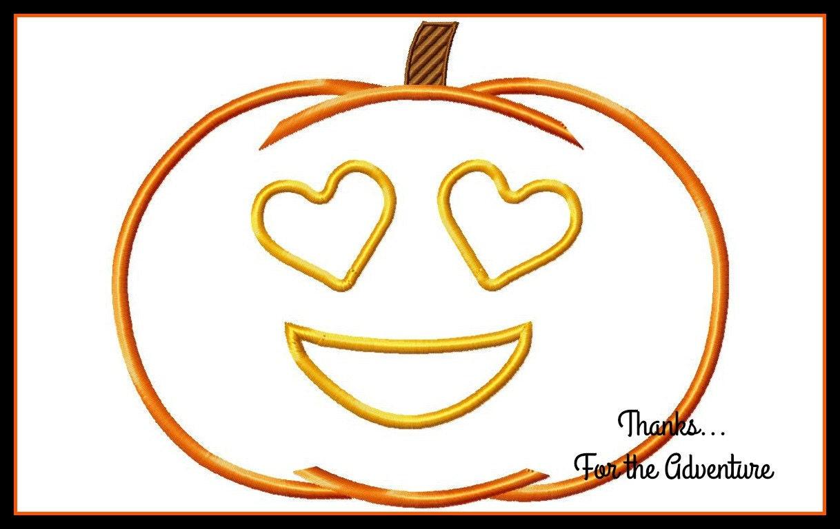 Halloween Jack O' Lantern Pumpkin Heart Face Eyes Emoji