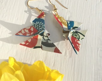 Large Origami Butterfly Earrings