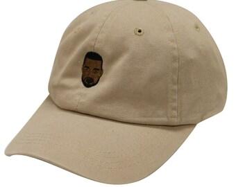 City Hunter C104 Kanye West Emoji Cotton Baseball Cap Khaki