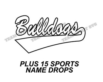 Bulldogs Swoosh Download Files - SVG, DXF, EPS, Silhouette Studio, Vinyl Cutting Files, Digital Cut Files - Use with Cricut and Silhouette