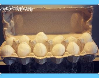 Pretend Play carton of Free Range Felt Eggs