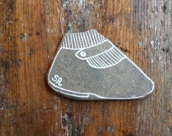 My painted stones: little shoe