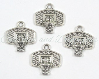 10 pewter Basketball Goal charms (CM6)