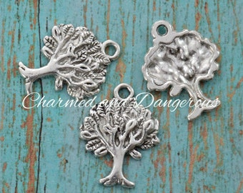 10 pewter Small Tree charms (CM263)