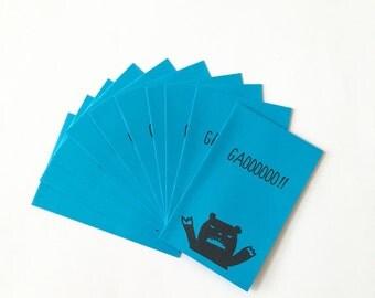 """Mini Blue Envelope """"Gaooooooo!!"""" - Petit Bags - 10 pcs"""