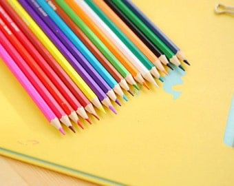 Coloring pencils, Back to School, Adult Coloring, Kids Coloring, Pencil set, Set of 24