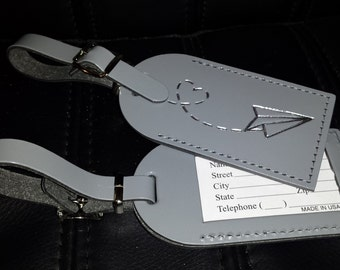 75 Custom Luggage Tag Wedding Favors - Made in the USA