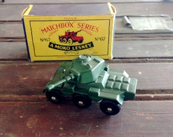 Matchbox Series 1959 Saladin Armoured Car with Box |  No 68 Matchbox Series