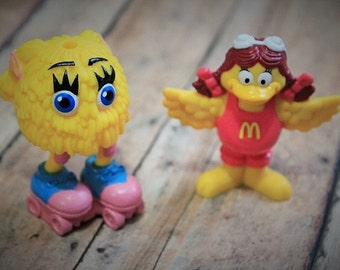 Vintage McDonald's toy-Fry Kid and Birdie-McDonalds Fry Guys Happy Meal Toys Figures 1980's Collectible-happy meal